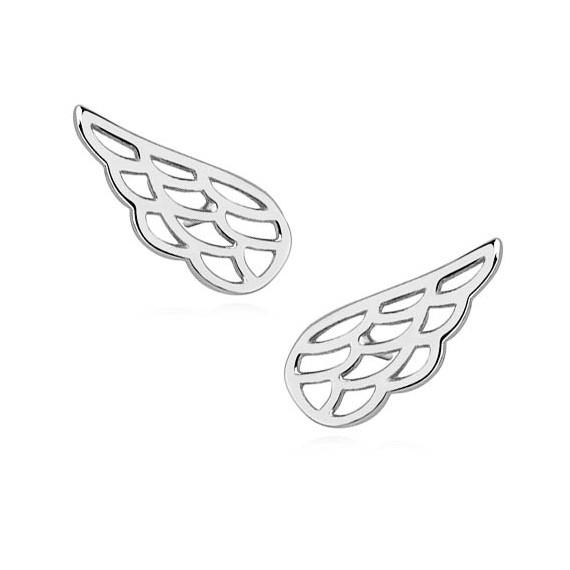 Srebrne (925) kolczyki skrzydła