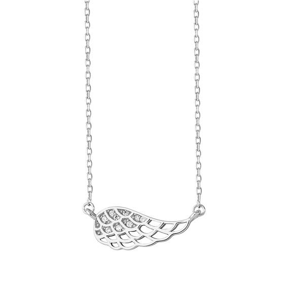 Srebrny naszyjnik skrzydło z cyrkoniami pr.925