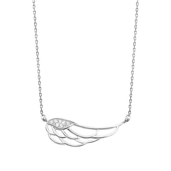 Srebrny naszyjnik skrzydło z cyrkoniamii pr.925