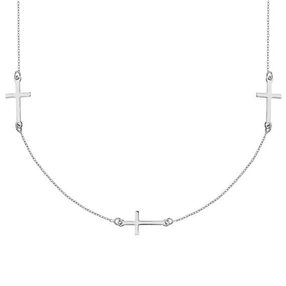 Srebrny naszyjnik pr.925 z krzyżykami