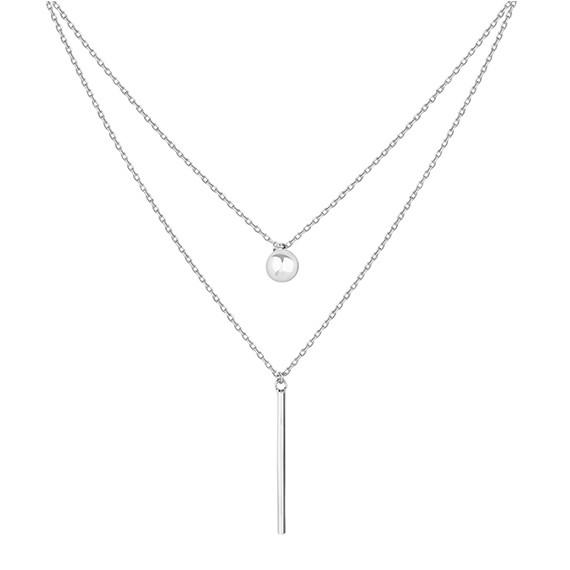 Srebrny podwójny naszyjnik pr.925