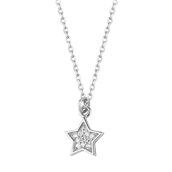Srebrny naszyjnik gwiazdka z cyrkoniami pr.925