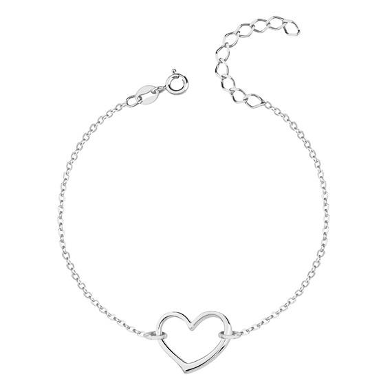 Bransoletka srebrna celebrytka pr. 925 serce