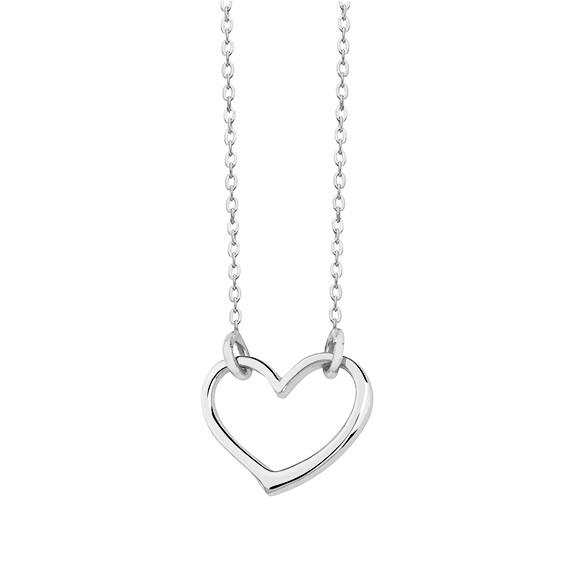 Srebrny naszyjnik pr.925 z zawieszką sercem
