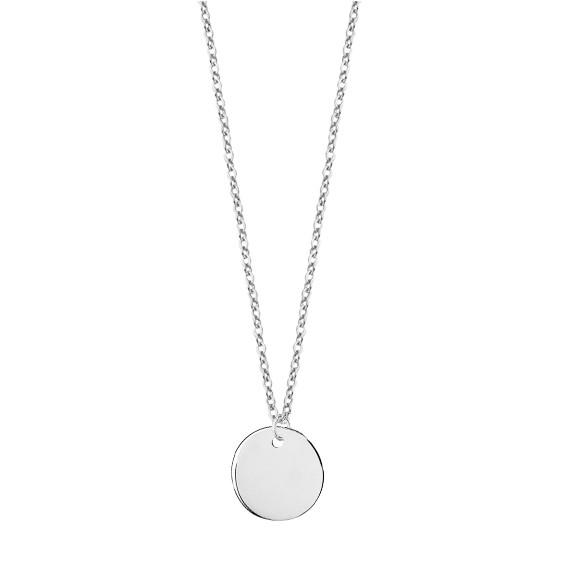 Srebrny naszyjnik pr.925 z pełnym kółkiem