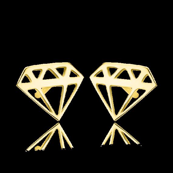 Złote kolczyki diament