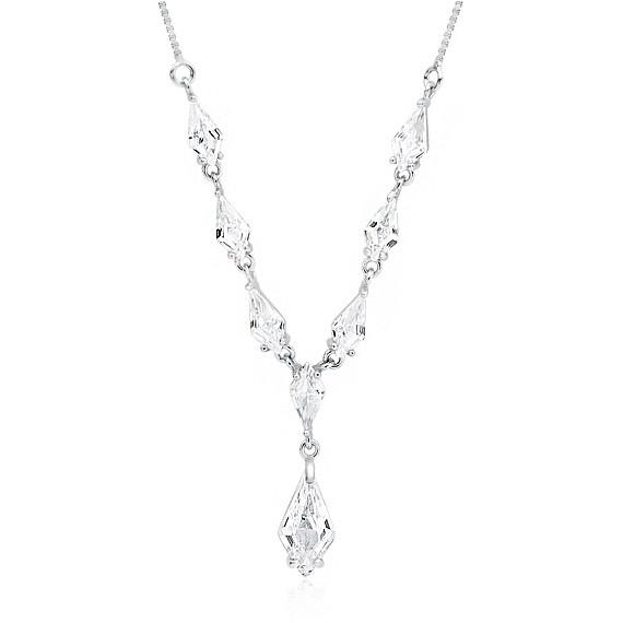 Srebrny, stylowy, ślubny naszyjnik pr.925