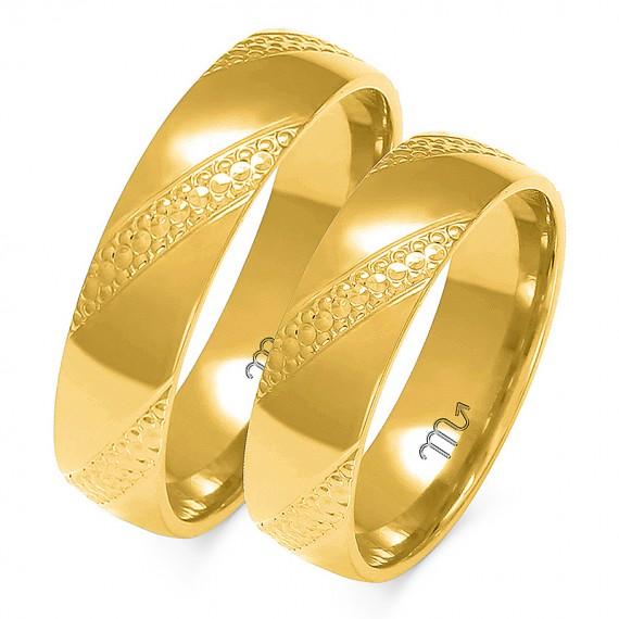 Obrączki Kolekcja Harmonijna Złoty-Skorpion A-147