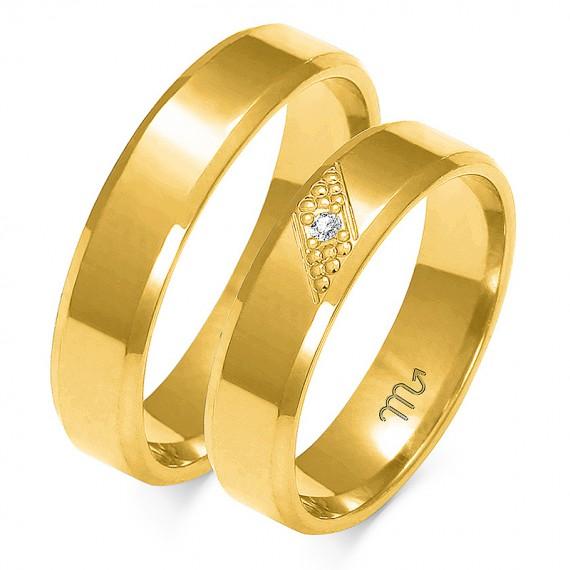 Obrączki Kolekcja Harmonijna Złoty-Skorpion A-149