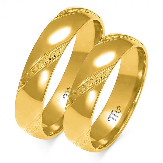 Obrączki Kolekcja Harmonijna Złoty-Skorpion A-158