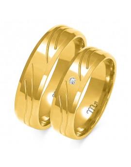 Obrączki Kolekcja Romantyczna Złoty-Skorpion A-123