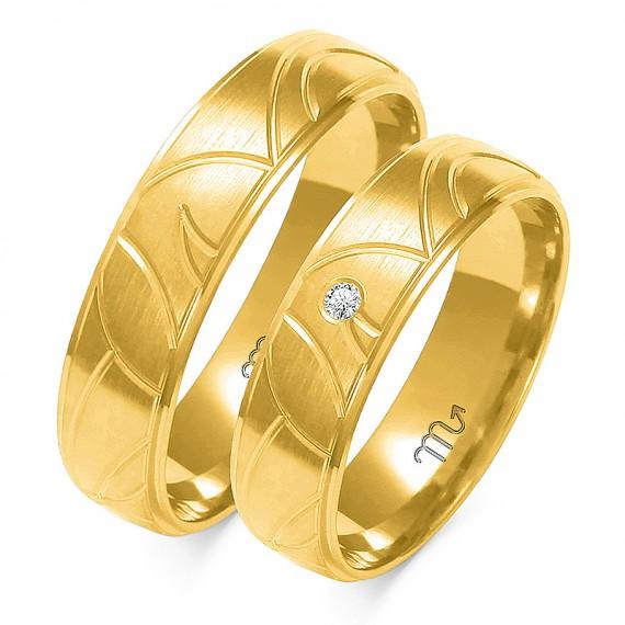 Obrączki Kolekcja Romantyczna Złoty-Skorpion A-125