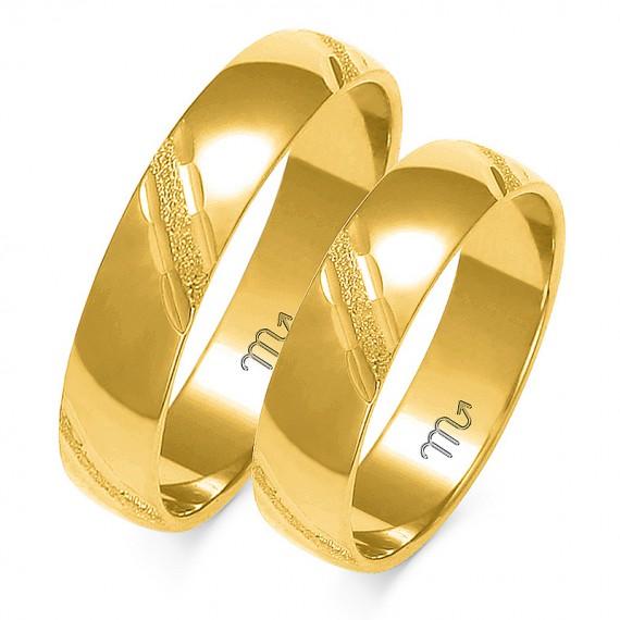 Obrączki Kolekcja Romantyczna Złoty-Skorpion A-127