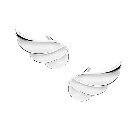 Srebrne kolczyki - skrzydła pr. 925