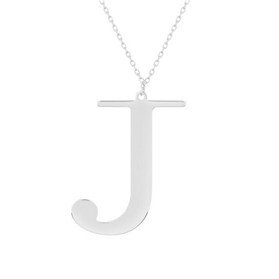 Srebrny naszyjnik pr.925 literka J