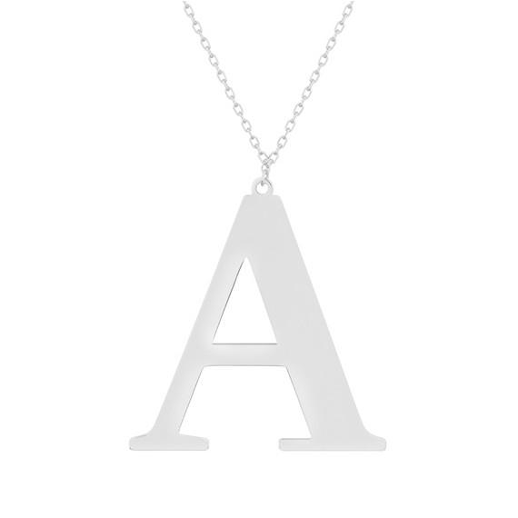 Srebrny naszyjnik pr.925 literka A