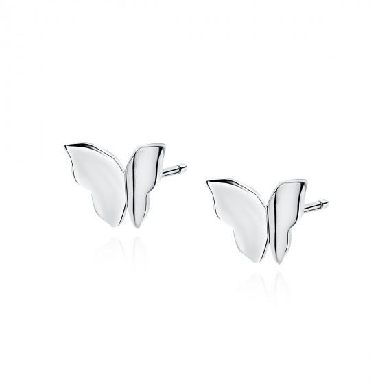 Srebrne (925) kolczyki - motylek