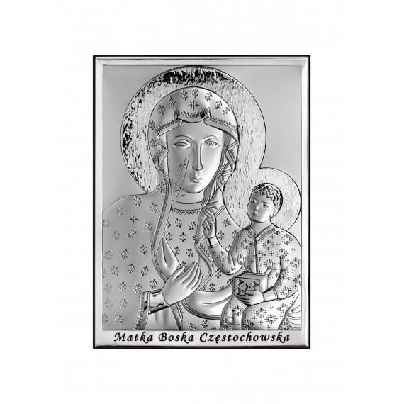 SREBRNY OBRAZEK MATKA BOŻA CZĘSTOCHOWSKA 6643/2X